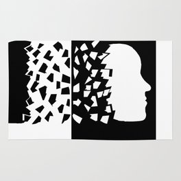Woman and Man Sharing their mind Rug