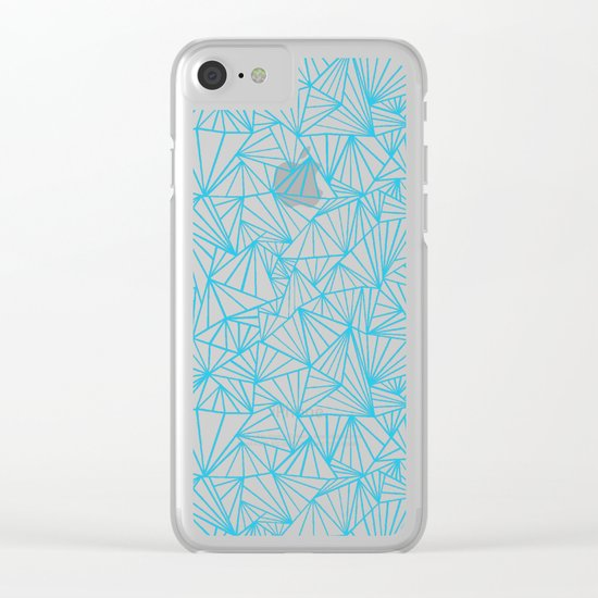 Ab Fan Electric Repeat Clear iPhone Case