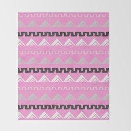 Mountains in blush pink Throw Blanket