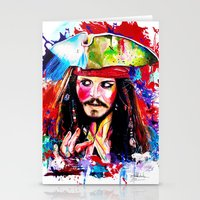 captain silva Stationery Cards featuring CAPTAIN by NORI