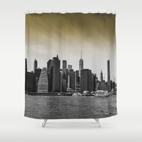 manhattan Shower Curtains featuring Manhattan by Forand Photography