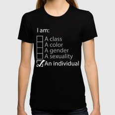 I am an individual. Womens Fitted Tee SMALL Black