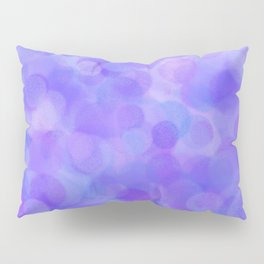 Ultra Violet Pastel Polka Dots Pillow Sham