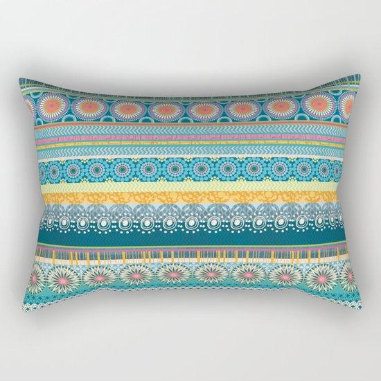 Blue Streaks Rectangular Pillow
