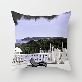 Saint-Tropez Hotel - Southern France Throw Pillow