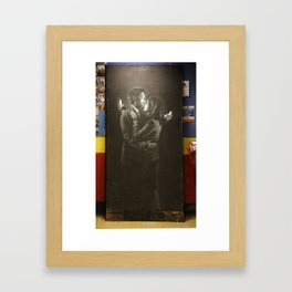 Bansk Phone Lovers Framed Art Print
