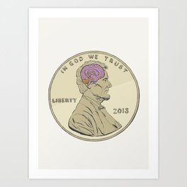 Penny for your thoughts Art Print