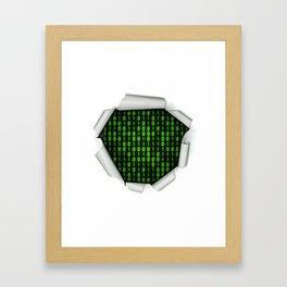 Binary Code Inside Framed Art Print