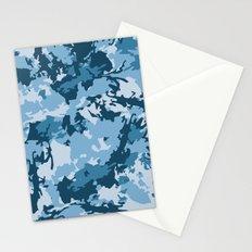 blue fir camo Stationery Cards