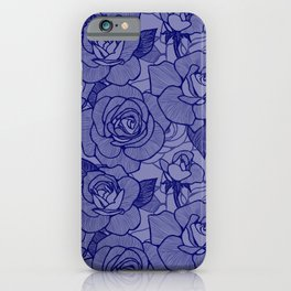 Navy Roses 2 iPhone Case