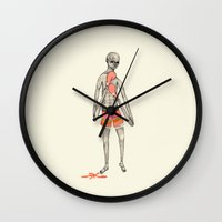 boxer Wall Clocks featuring BOXER by auntikatar