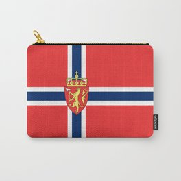 Flag of Norway Scandinavian Cross and Coat of Arms Carry-All Pouch