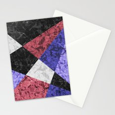 Marble Geometric Background G435 Stationery Cards