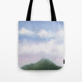 mountain in the early evening Tote Bag