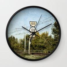 100 100 90 Wall Clock