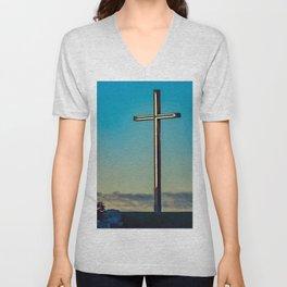The Cross on the Hill Unisex V-Neck