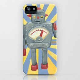 Cute robot toy iPhone Case