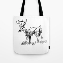 Modern deer Tote Bag