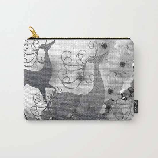 REINDEER AND FLOWERS Carry-All Pouch
