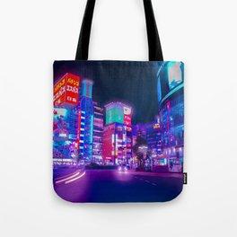 Magenta Trails - Neon Tokyo Series Tote Bag