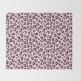 Leopard Print - Pink Chocolate Throw Blanket