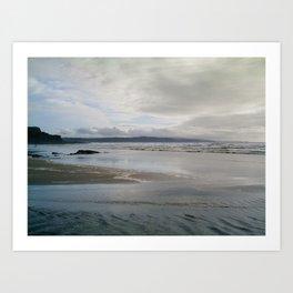MOODY CROOKLETS BEACH BUDE CORNWALL Art Print