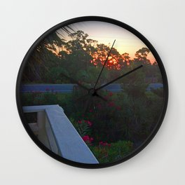 Sunrise from the Deck Wall Clock