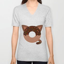 Donut cat Unisex V-Neck