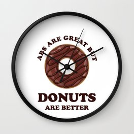 Abs Are Great But Donuts Are Better - Funny Fitspo Wall Clock