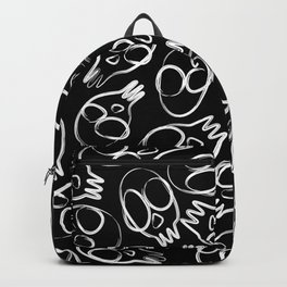 Sketch Doodle Tribal Skull Pattern Backpack