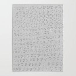 grey lunar Poster