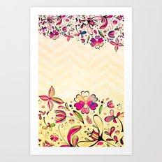 VINTAGE FLOWERS XIX - for iphone Art Print