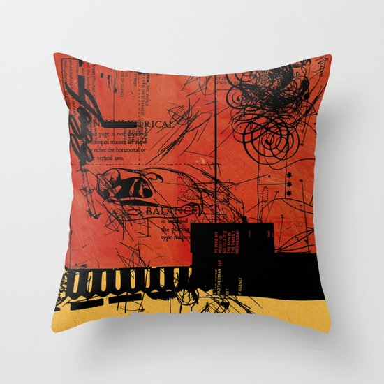 ANALOG ZINE / BETTER GIT IT IN YOUR SOUL Throw Pillow