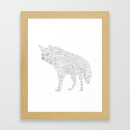 Geometric Hyena Framed Art Print