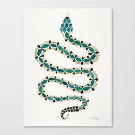 Emerald & Gold Serpent Canvas Print