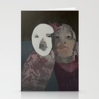 twins Stationery Cards featuring Twins by Embla Øverbye