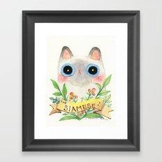 The Siamese Cat Framed Art Print
