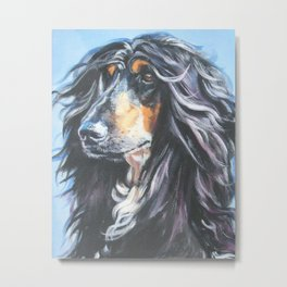 Afghan Hound Beautiful Fine Art Dog Painting by L.A.Shepard Metal Print