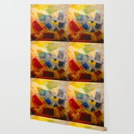 Otto Freundlich Komposition 1939 Mid Century Modern Abstract Colorful Geometric Painting Pattern Art Wallpaper
