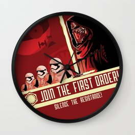 Join The First Order! Wall Clock