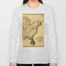 The eagle map of the United States, 1832 Long Sleeve T-shirt