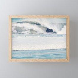 Falling Ocean Waves Framed Mini Art Print
