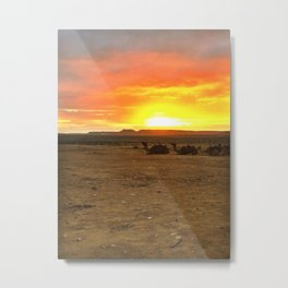 Sun Rise in the Negev Metal Print
