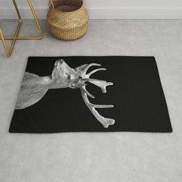 Deer Black Rug