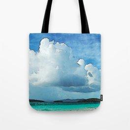 Caribbean Cumulonimbus Clouds Tote Bag