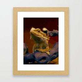 The Majestic Bearded Dragon Framed Art Print