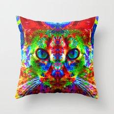 Sir Parker the Chromatic Cat Throw Pillow