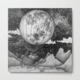 Moon Balloon Metal Print