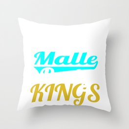 """A Great German Beer Tee Saying """"Malle Party Kings"""" T-shirt Design Drunkard Drunk Drinking Alcohol Throw Pillow"""
