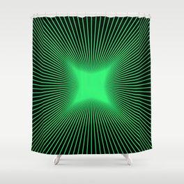 The Emerald Illusion Shower Curtain